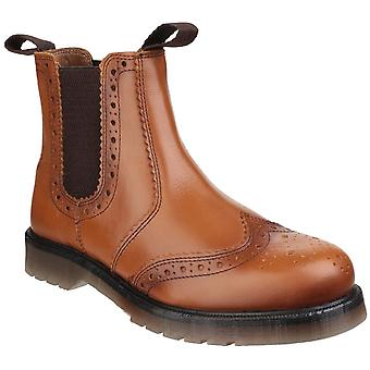 Amblers Men's Dalby Pull On Brogue Boot Brown 24280
