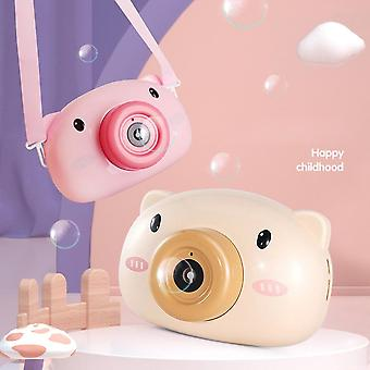 Cute Cartoon Pig Camera Bubble Machine Kids - Giocattoli Bambini Baby Music