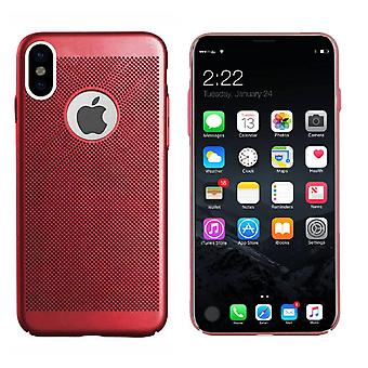 Colorfone iPhone X/Xs Shell con foro (rosso)
