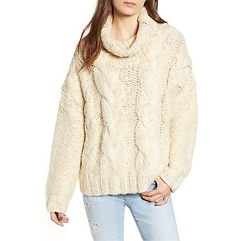 Moon River | Cable Knit Turtleneck Sweater