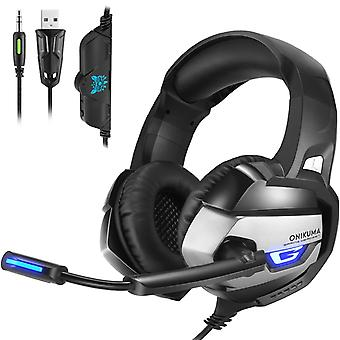 Onikuma K5 3.5mm Stereo gaming headset with Microphone Black/Grey