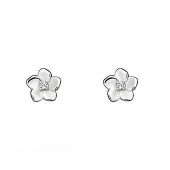Elements Silver 3D Cherry Blossom With CZ Centre Earrings E5731C