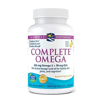 Complete Omega, 565mg Lemon 60 softgels