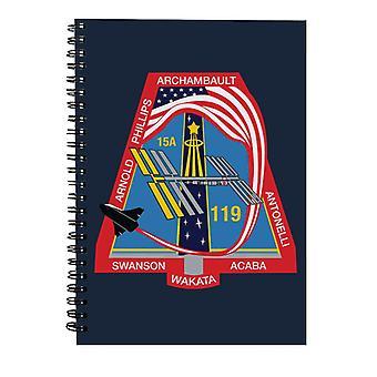 NASA STS 119 Avaruussukkula Discovery Mission Patch Spiral -muistikirja