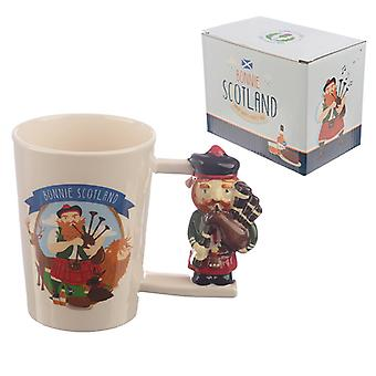 Collectable Scottish Piper Shaped Handle Ceramic Mug X 1 Pack