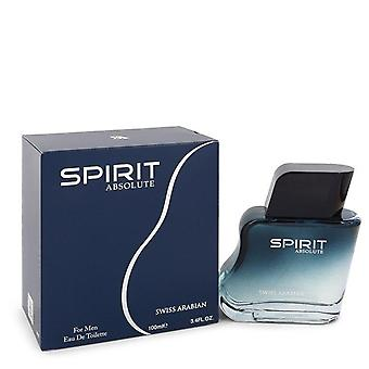 Swiss Arabian Spirit Absolute Eau De Toilette Spray por Swiss Arabian 3.4 oz Eau De Toilette Spray