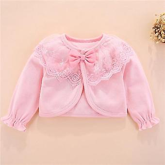 100%cotton Baby Girl Bow Lace Princess Baby Coat Newborn Wedding Birthday Party Outerwear Clothes