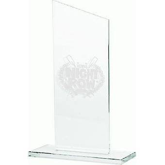 Trophée en verre gravé
