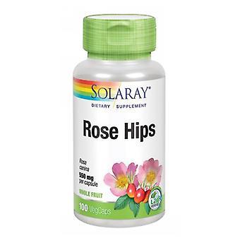 Solaray Rose Hips, 550 mg, 100 Tappi
