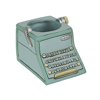 Allen Designs Baby Writer Indoor / Outdoor Decorative Gray Typewriter Mini-Planter Plant Pot