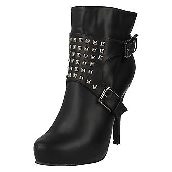 Ladies Coco Heeled Ankle Boots Style - L8633