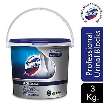 Domestos Pro Formula Professional Urinal Blocks 3kg, 1pk of 150 Blocks