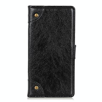 For Samsung Galaxy M51 (Side Fingerprint Version) Copper Buckle Nappa Texture Horizontal Flip Leather Case with Holder & Card Slots & Wallet(Black)