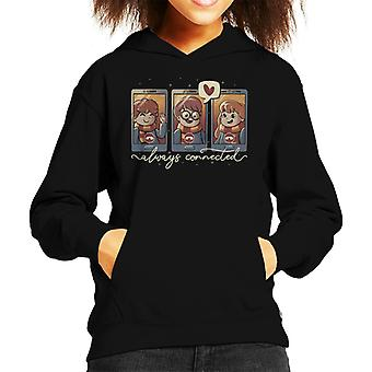Magic Connection Always Connected Kid's Hooded Sweatshirt
