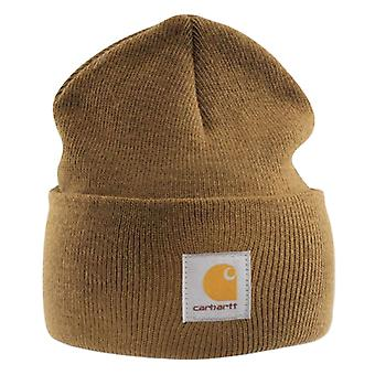Carhartt akryl ur cap - brun a18