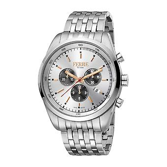 Ferre Milano Men's Silver Dial Stainle Steel Watch