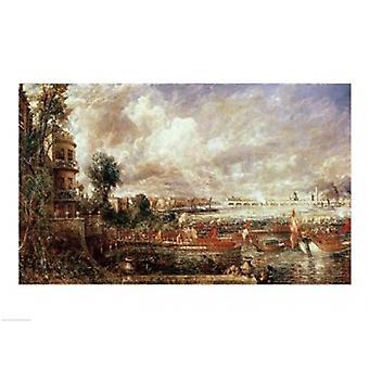 افتتاح جسر ووترلو طباعة ملصق من جون كونستابل