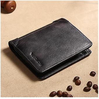 Férfi valódi bőr pénztárca, hitelkártya / névjegykártya birtokosai bőr pénztárca