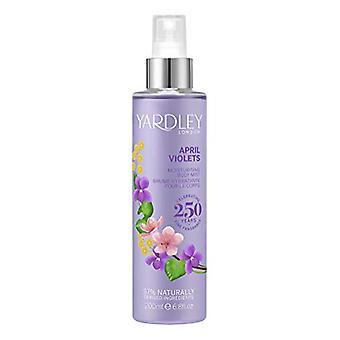 Yardley April Violets Fragrance Mist 200ml Spray