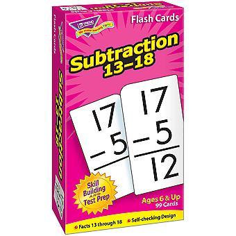 Soustraction 13-18 Cartes Flash de forage d'habileté