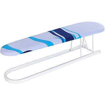 WENKO Ironing Sleeve Board with Decorative Cover, Metal, White, 52 x 11 x 0.1 cm