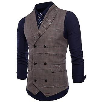 Vest Men Jacket Sleeveless, Vintage Tweed Spring, Autumn, Plus Size Waistcoat