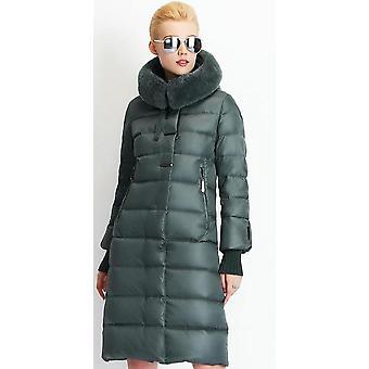 Women's Jacket, Medium Length Rabbit Fur Winter Thick Coat
