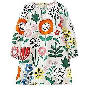 Long Sleeve Princess Tunic Jersey Dress, Flowery Design