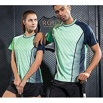 Tennis de table Badminton Quick Dry Breathable Imprimé Chemises de sport et femmes