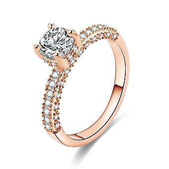 Frauen Ring, weiß Aaa Kristall Zirkon, Verlobungs-Design-Ringe, Hochzeitsschmuck