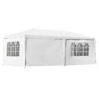Outsunny 6 x 3(m) Gazebo Canopy Party Tent with 4 Removable Side Walls for Outdoor Event with Windows and Doors, White