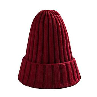 Unisex Cotton Blends Solid Warm Soft Hip Hop Knitted Winter Caps/womens