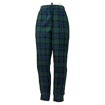 Cuddl Duds Women's Pajama Pants Fleecewear Stretch Jogger Green A381825