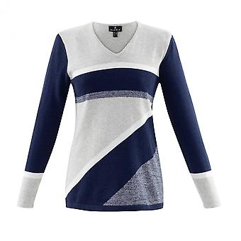 MARBLE Marble Sweater In Pink Blue Navy Or Yellow 6103