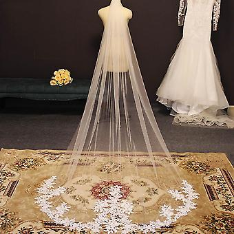 Elegant Lace Appliques, Wedding Veil With Comb
