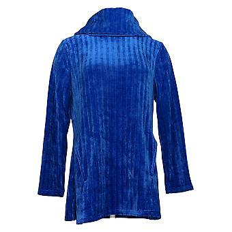 Nina Leonard Women's Sweater Long Sleeve Cowl Neck Tunic Blue 713-651