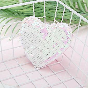 Sequins Heart Shape Kids Shoulder Coin Bag