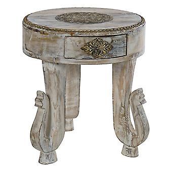 Boční stůl Dekodonia Mango dřevo Mosaz (38 x 38 x 42 cm)