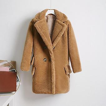Fluffy Thick Warm Faux Fur Coat Women Artificial Plush Jacket Women's Teddy