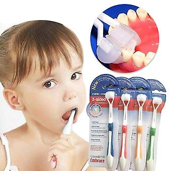 Baby Toothbrush Three Sided Safety Soft Brush, Oral Hygiene Care Teeth Brushes