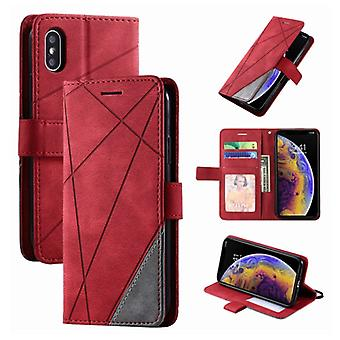Stuff Certified® Xiaomi Poco X3 Pro Flip Case - Leather Wallet PU Leather Wallet Cover Cas Case Red