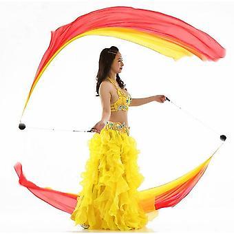 Real Silk Veil Poi Streamer Thrown Balls Belly Dancer