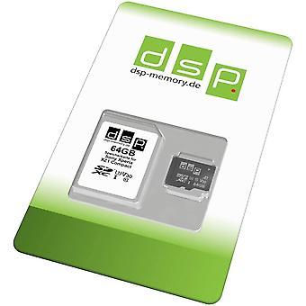 DSP Speicher 64GB Speicherkarte (A1, V30, U3) fr HanFei Xperia XZ1 Compact