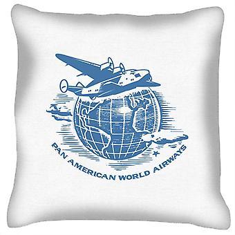 Pan Am Flying Around The World Cushion