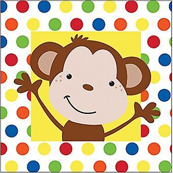 Bn 12/16Ct 2P Fun Monkey Napkin