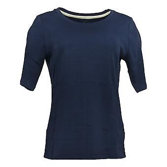 Isaac Mizrahi En direct! Femmes's Top Pima Cotton Blue A376658