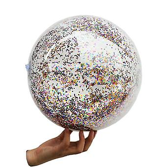 Giant Beach Ball, Transparent Water Floatingc With Sequins Good Toy,