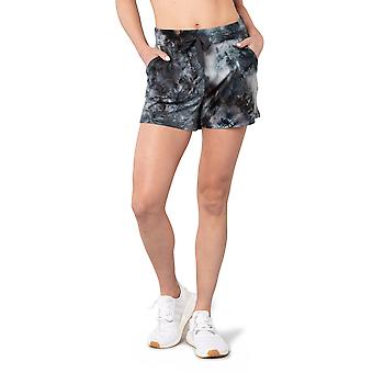 """Womens Tie Dye Short With Side Pockets And Drawstring At Waisteband 3.5"""" Inseam"""