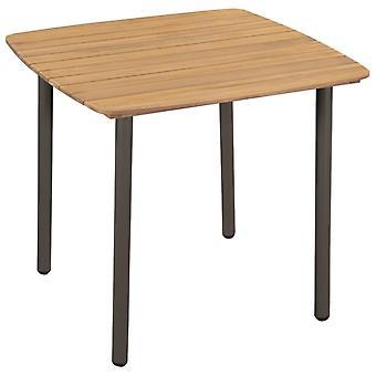 Tavolo da giardino 80x80x72cm Legno e acciaio acacia solidi