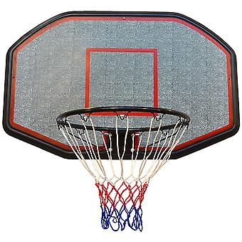 Tabla de baloncesto de 109x71 cm + anillo de 45 cm